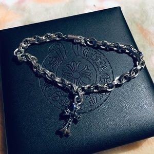 Chrome Hearts PaperLink Bracelet W Black D Cross